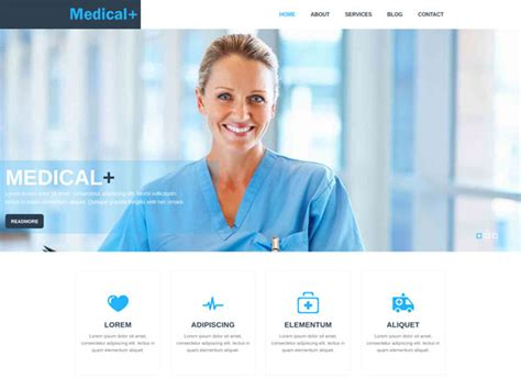 templates for medical website 17 free medical html website templates templatemag