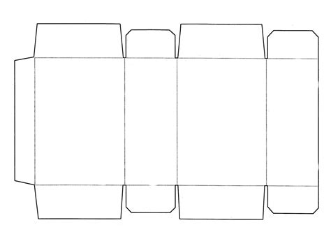 printable templates box template printable activity shelter