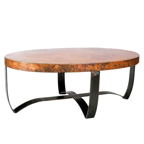 Hammered Copper Coffee Table Twi Bfm5 F 508a 3 Jpg