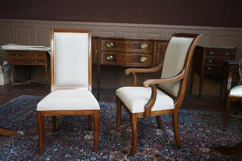 upholster dining room chairs mahogany dining room chairs regency upholstered ebay