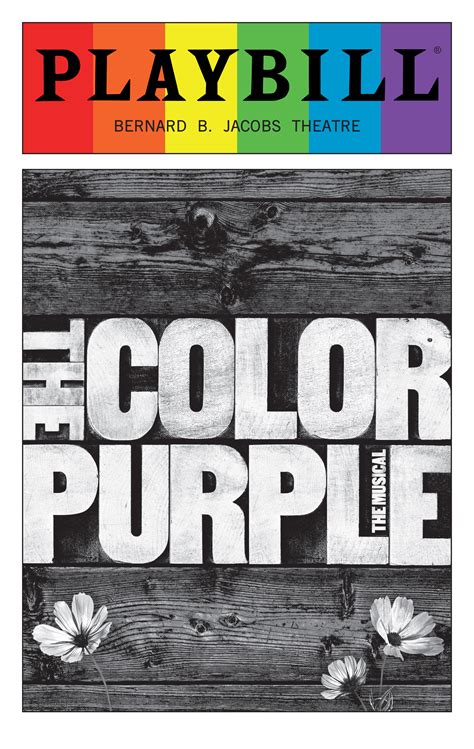 the color purple book sle the color purple june 2016 playbill with rainbow pride