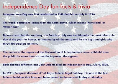4th Of July Facts by Some Facts About 4th Of July Best Pictures