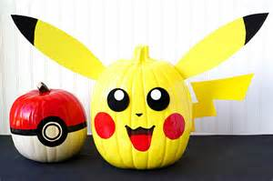 pokemon pumpkins pikachu pokeball happiness homemade