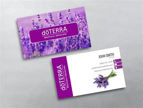 doterra business card template images