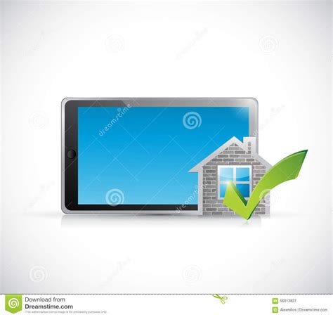home design software for tablets real estate home approve tablet illustration stock illustration image 56913827