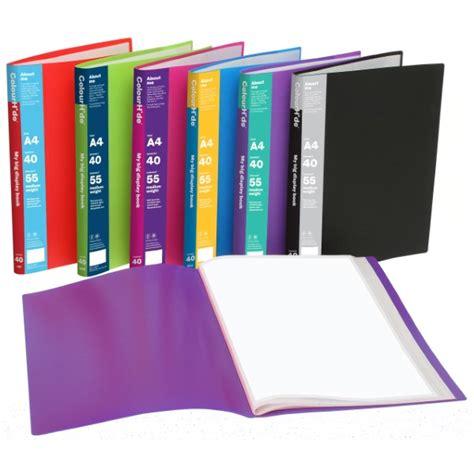 Clear Holderdisplay Book A4 20 Pocket Bantex colourhide 174 my big a4 display book 40 pockets medium