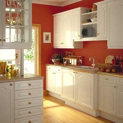 red kitchen white cabinets red walls with white cabinets gharexpert