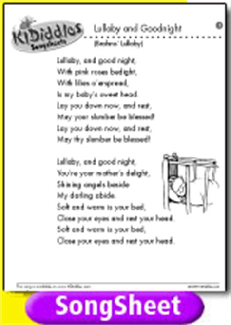testo lullaby lullaby and goodnight song and lyrics from kididdles
