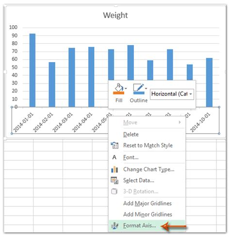 excel format y axis how to change date format in axis of chart pivotchart in
