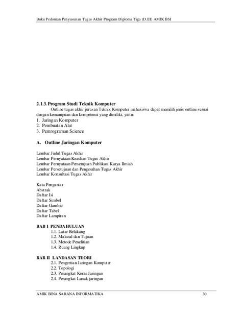 panduan membuat class diagram buku panduan tugas akhir amik bsi 2014