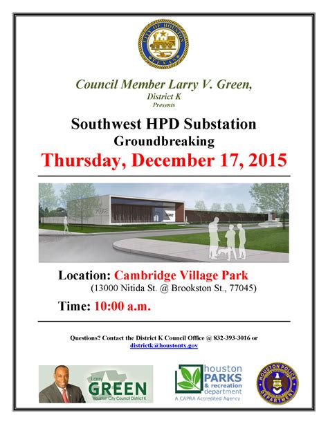 hpd section 8 phone number southwest hpd substation groundbreaking thursday