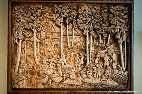 Custom Wooden Painting carved wood paintings neatorama