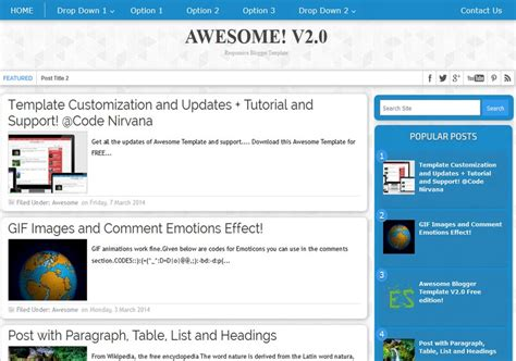 awesome responsive v2 0 blogger template free graphics