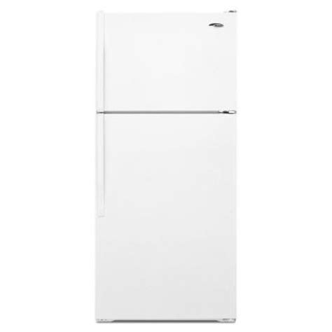 amana 17 6 cu ft top freezer refrigerator in white