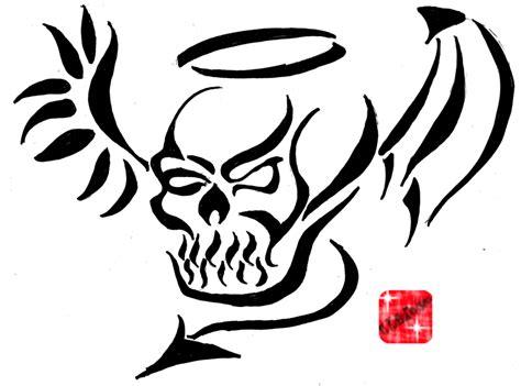 tribal skull by m kelley on deviantart