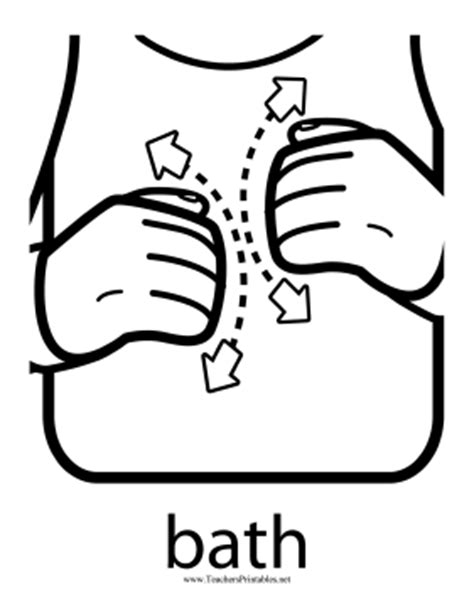 bathroom in asl bath sign