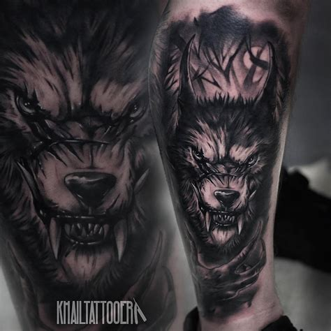 tattoos of wolves black wolf