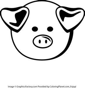 coloring pages of pig faces pig face coloring pages www pixshark com images