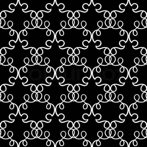 black and white fashion pattern abstract damask background black and white fashion