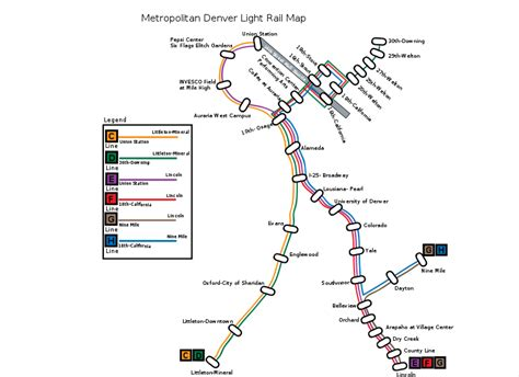 rtd map denver co rtd light rail system