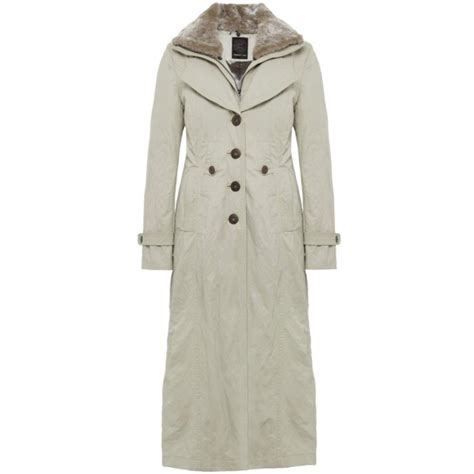creenstone coat length with fur trim 511070 buy