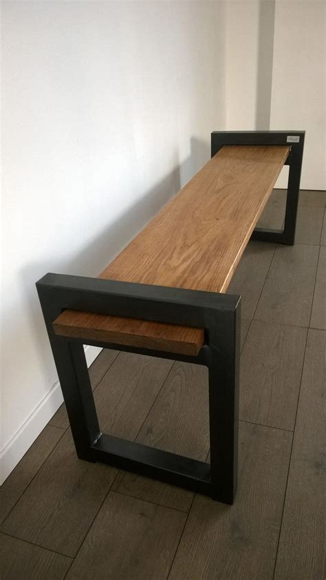 banc en bois occasion banc de style industriel et minimaliste en bois et m 233 tal