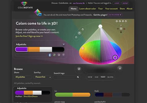 20 color scheme generators for web and graphic designers