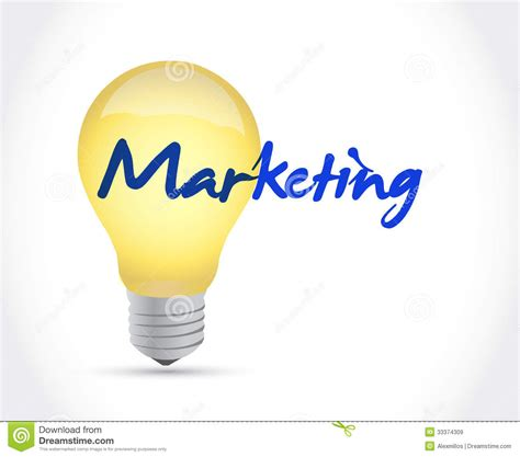 idea design and marketing marketing ideas concept illustration design royalty free