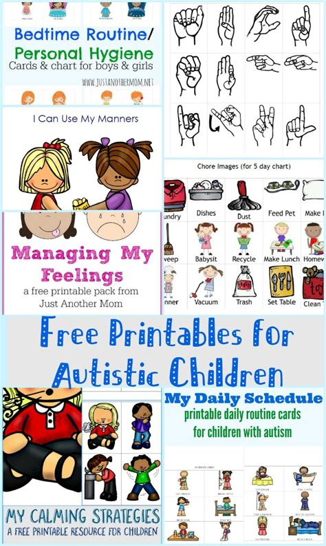 printable picture schedule autism in need of some visual aids for your autistic child check