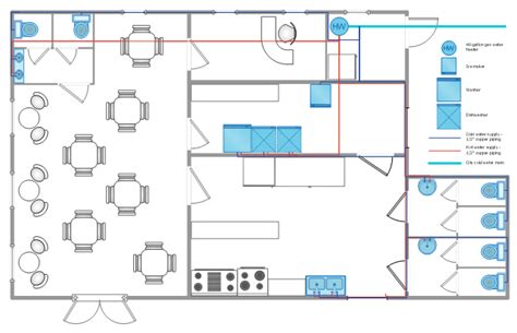 Banquet Hall Floor Plan by Restaurant Water Supply