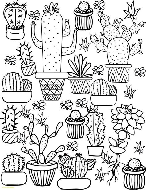 cactus coloring page  cactus coloring sheet