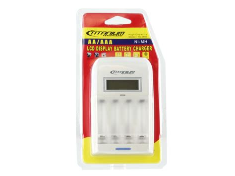 titanium battery charger titanium lcd display battery charger for aa aaa nimh