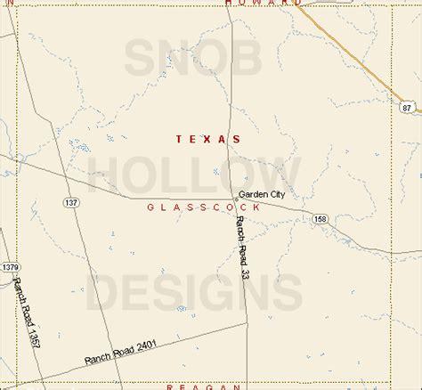 garden city texas map glasscock county texas color map