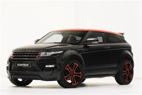 range rover modified red new startech range rover evoque shines in essen