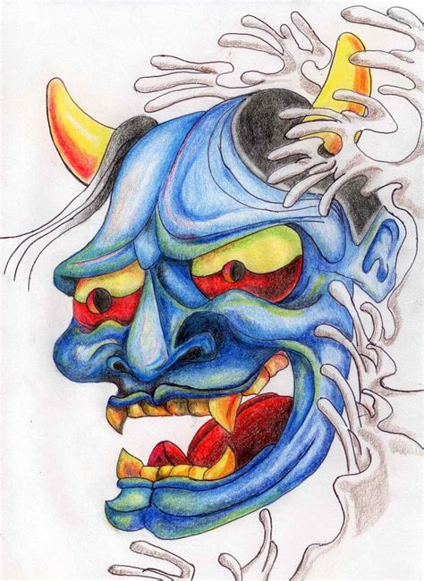 more oni mask tattoo designs real photo pictures images