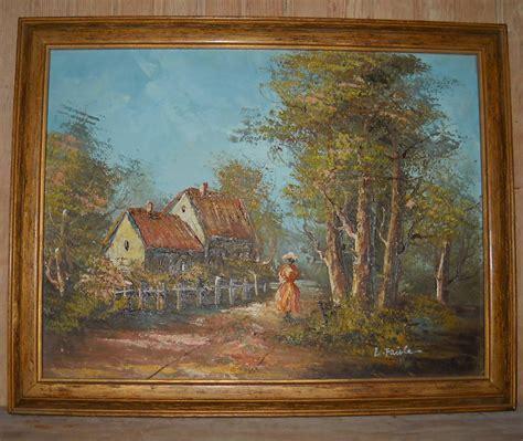 Landscape Photos Ebay Framed Vintage Country Cottage Landscape Abstract