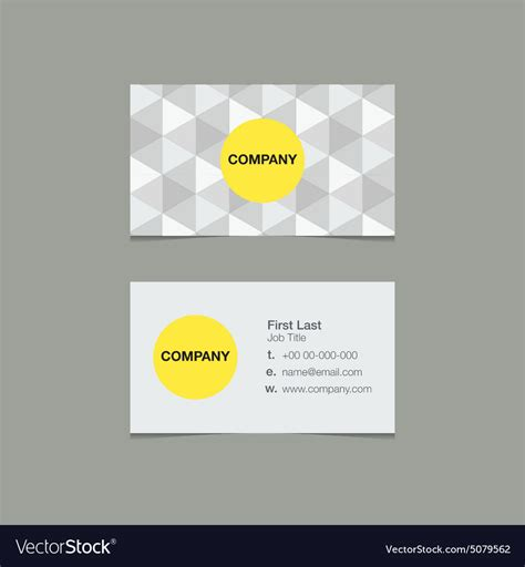 Minimalist Name Card Template by Simple Name Card Template Triangle Style Vector Image