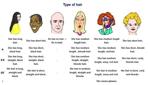 words to describe hair words nb 1 unit 3 helensthatsenglish