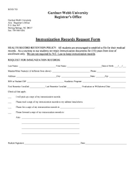Records Request Form How To Get Immunization Records Forms And Templates Fillable Printable