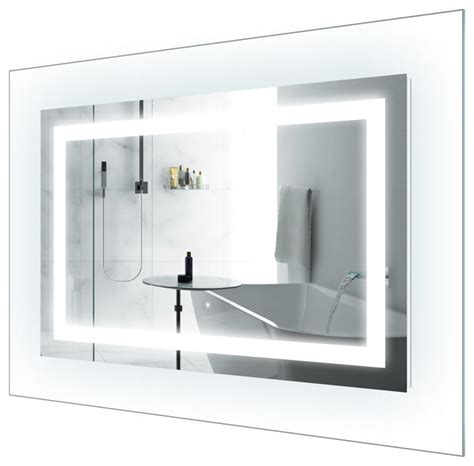 designer bathroom mirror led lighted bathroom mirror with glass frame 42 quot x30
