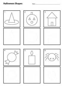 kindergarten activities drawing halloween shapes for pre k worksheets teacher and students
