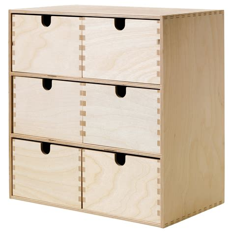 ikea small storage moppe mini chest of drawers birch plywood 31x18x32 cm ikea
