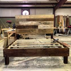 Bed Frames Reclaimed Wood Reclaimed Wood Bed