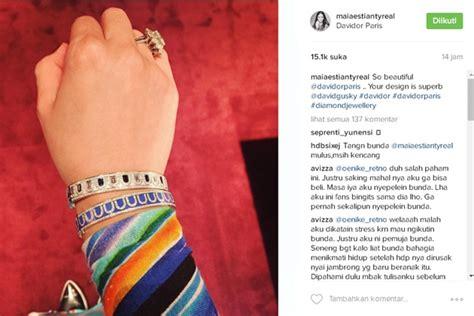 Gelang Mahal pamer gelang mahal cincin di jari manis maia malah bikin