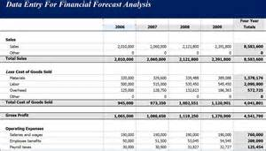 financial templates forecast analysis income statement