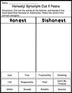 Simple Essay On Truthfulness by Honesty Worksheet Frontier Pinte