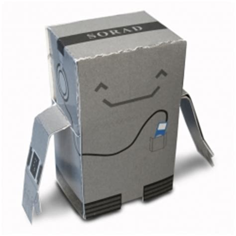 How To Make A Robot Out Of Paper - a paper robot you can print out and assemble