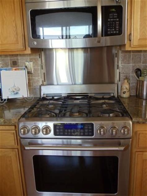 stainless steel backsplash stove backsplashes 30 in x 30 in polished stainless steel
