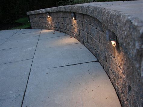 Patio Wall Lighting Deck On Sted Concrete Deck Stairs And Patios