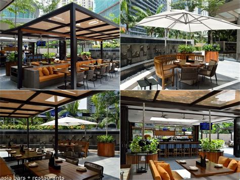 Bamboo Dining Room Set by Jp Teres Indoor Outdoor Restaurant At Grand Hyatt Kuala
